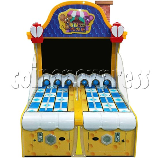 "Hungry Mice Ticket Redemption Arcade Machine with 55"" Screen - front view"