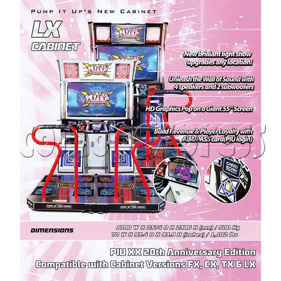 Pump It Up XX 20th Anniversary Full Game Board Kit 37953