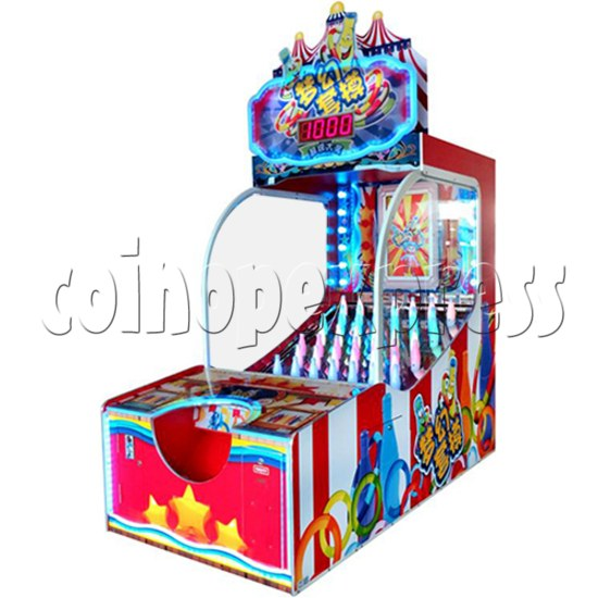 Ring Toss Ticket Redemption Arcade Machine - angle view