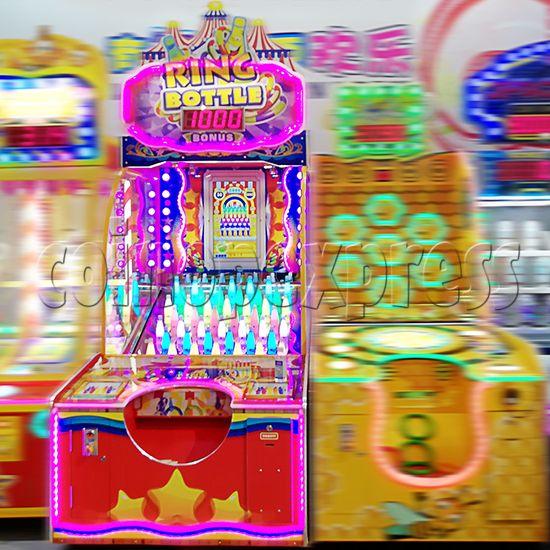 Ring Toss Ticket Redemption Arcade Machine - bottles