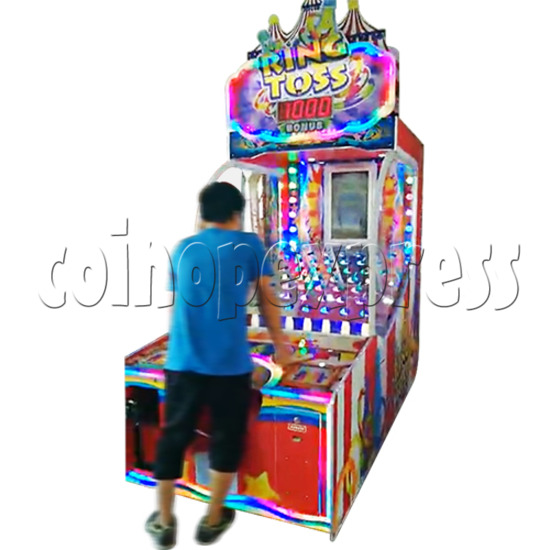 Ring Toss Ticket Redemption Arcade Machine - play view