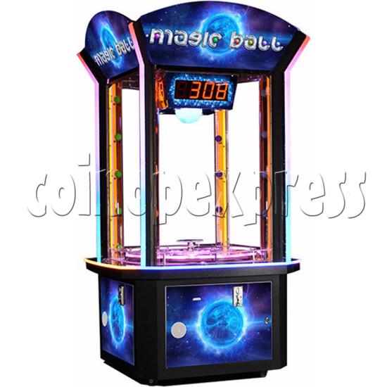 Magic Ball Ticket Redemption Arcade Machine - angle view