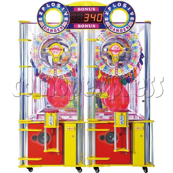 Explosive Balloon Pop Ticket Redemption Arcade Machine 2 Players - front view