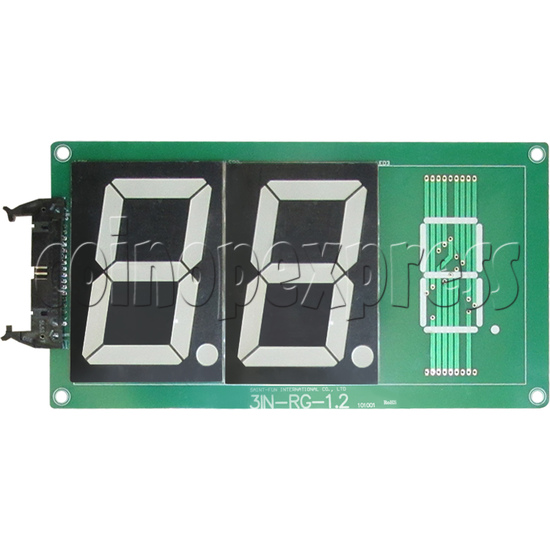 Time LED display board for Street Basketball Machine - front view