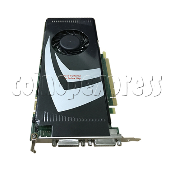 Video card for Initial D8 machine - Part No.9600GS - side view