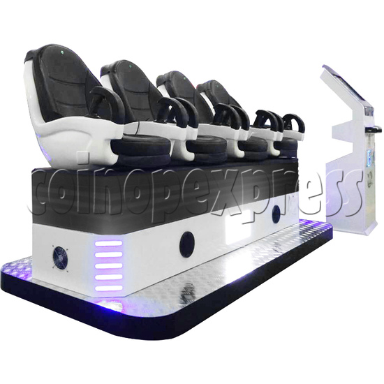 9D Virtual Cinema Virtual Reality Gaming Simulator 4 players - left view
