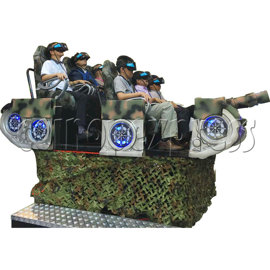 VR Tank for 6 players - play view