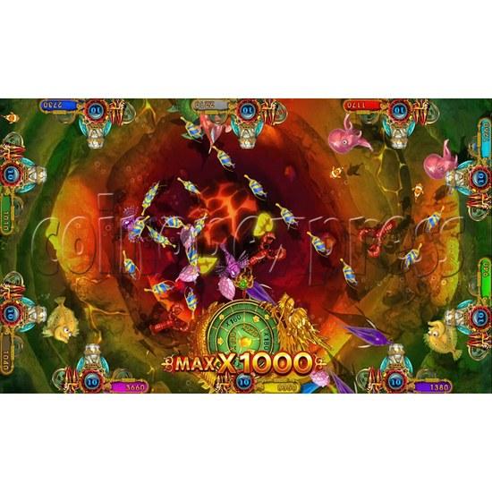 Ocean king 3 plus Master of The deep Fish Hunter Game board kit China release version - screen display 2