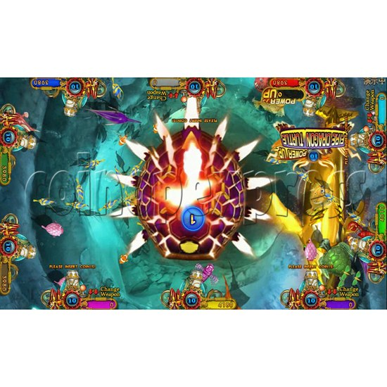 Ocean king 3 plus Dragon Lady of Treasures Fish Hunter Game board kit China release version - screen display 1