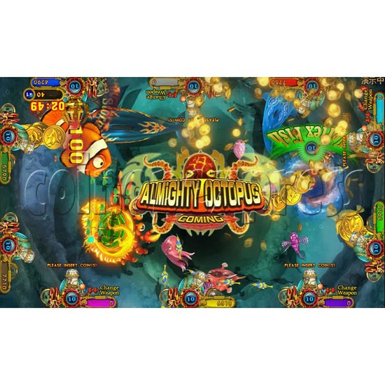 Ocean king 3 plus Dragon Lady of Treasures Fish Hunter Game board kit China release version - screen display 13
