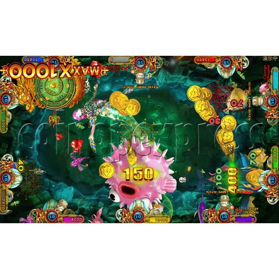 Ocean king 3 plus Fire Phoenix Fish Game Board Kit China Release Version - screen display 1