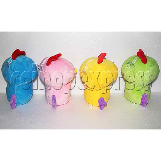 Guitar Chicken Plush Toy 8 inch - back view