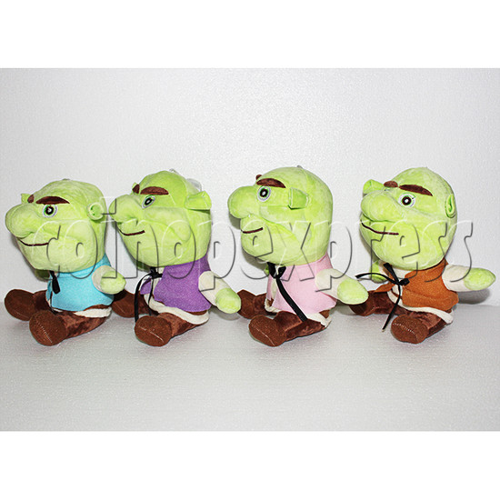 Green Monster Plush Toy 8 inch - angle view