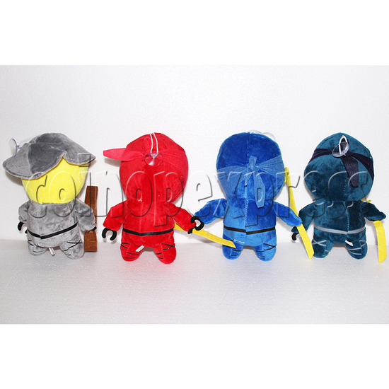 Little Ninja Plush Toy 8 inch - back view