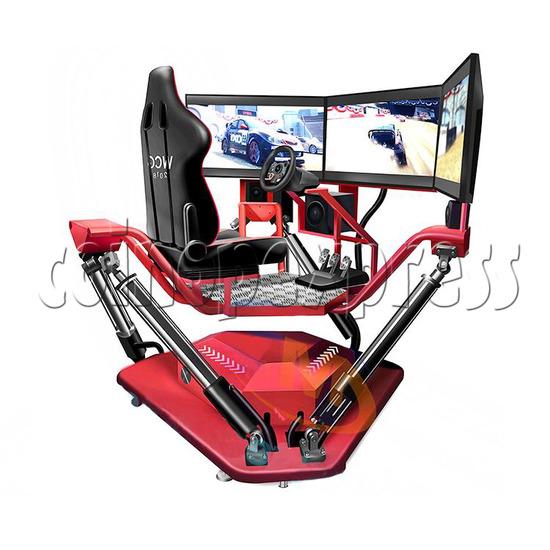 3 Fold Screen Virtual Reality Driving Car Arcade Game Machine- Angle view