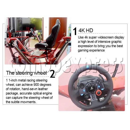 3 Fold Screen Virtual Reality Driving Car Arcade Game Machine- feature31