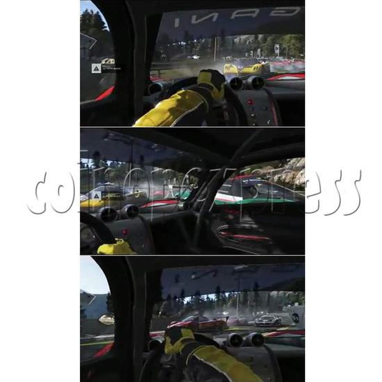 3D Racing Car Game Virtual Reality Arcade Gaming Simulator machine - screen display 1