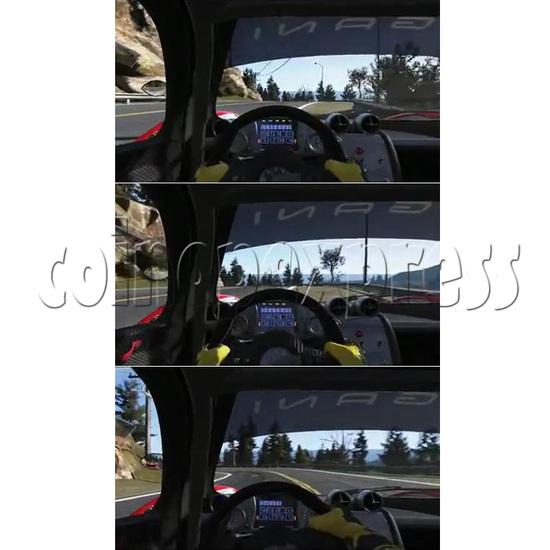 3D Racing Car Game Virtual Reality Arcade Gaming Simulator machine - screen display 2