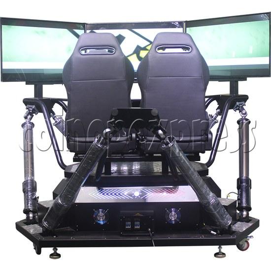 3 Fold Screen Virtual Reality Driving Car Arcade Game Machine - back view
