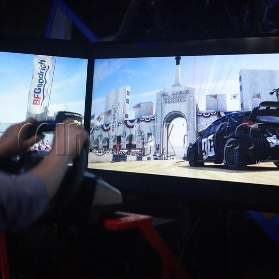 3 Fold Screen Virtual Reality Driving Car Arcade Game Machine - screen display