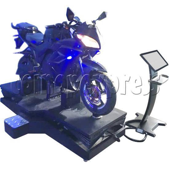 VR Speed Motor Racing Virtual Reality Arcade Gaming Simulator machine - left view