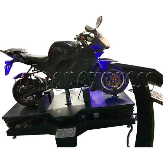 VR Speed Motor Racing Virtual Reality Arcade Gaming Simulator machine - side view