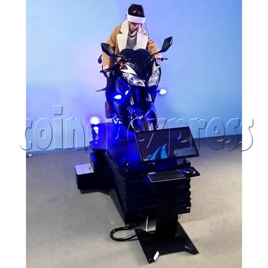 VR Speed Motor Racing Virtual Reality Arcade Gaming Simulator machine - play view