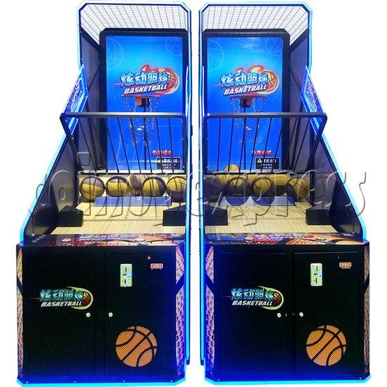 Storm Shot Basketball Arcade Ticket Redemption Game Machine- Front view