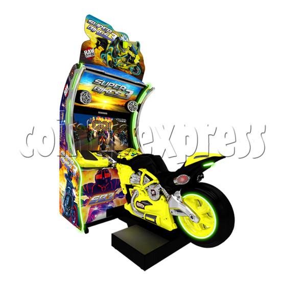 Super Bikes 3 Motorcycle Racing Arcade Game Machine- yellow color