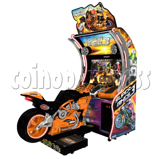 Super Bikes 3 Motorcycle Racing Arcade Game Machine- orange color