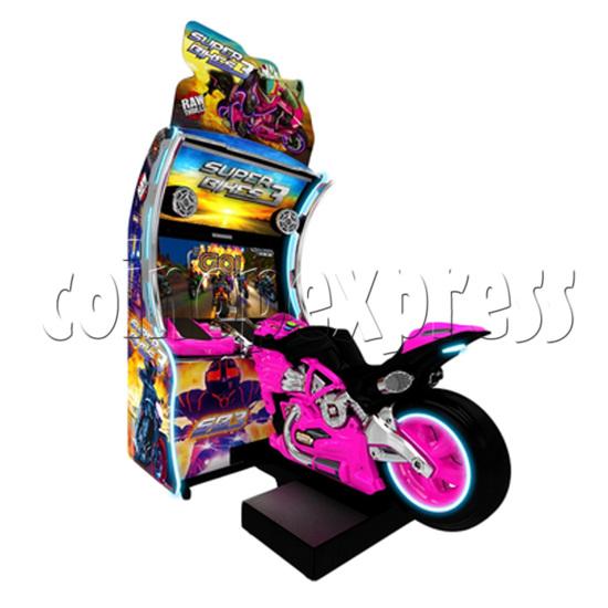 Super Bikes 3 Motorcycle Racing Arcade Game Machine- Purple color