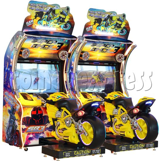 Super Bikes 3 Motorcycle Racing Arcade Game Machine - yellow color 2