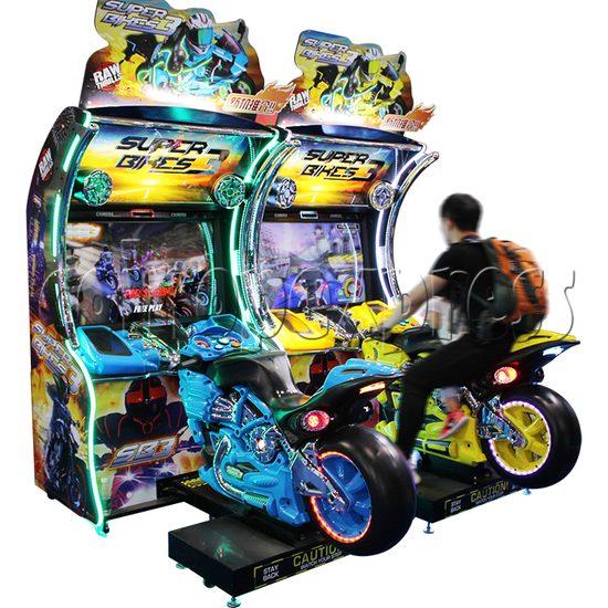 Super Bikes 3 Motorcycle Racing Arcade Game Machine - play view 1