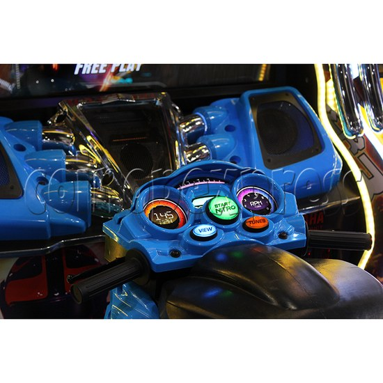 Super Bikes 3 Motorcycle Racing Arcade Game Machine - control console