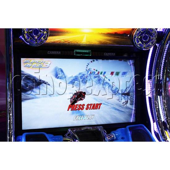 Super Bikes 3 Motorcycle Racing Arcade Game Machine - screen display 1