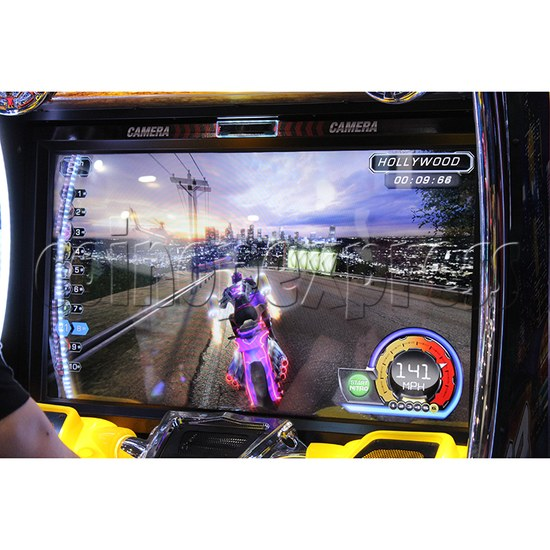 Super Bikes 3 Motorcycle Racing Arcade Game Machine - screen display 2