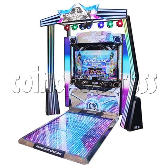 DanceRush Stardom Video Dancing Machine - Single player machine- Angle view