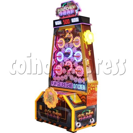 Golden Gear Skill Test Ticket Redemption Arcade Machine - right view