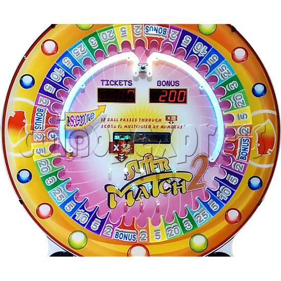 Super Match 2 Skill Test Tickets Redemption Arcade Game - digit wheel