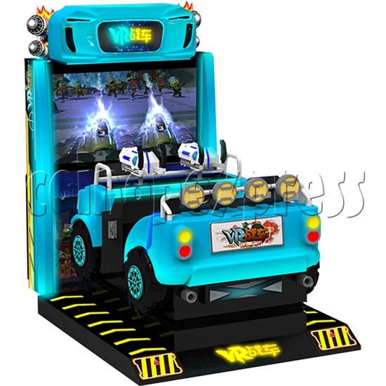 VR Chariot Driving Arcade Machine - left view 1