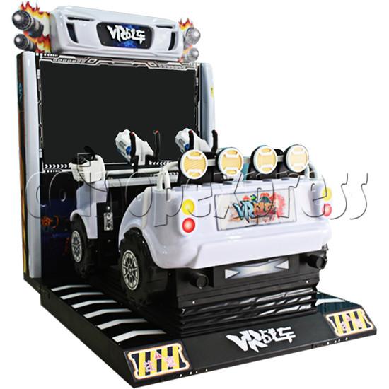 VR Chariot Driving Arcade Machine - left view 2