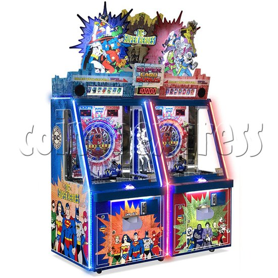 DC Super Heroes 2 Player Arcade Game Machine - left view