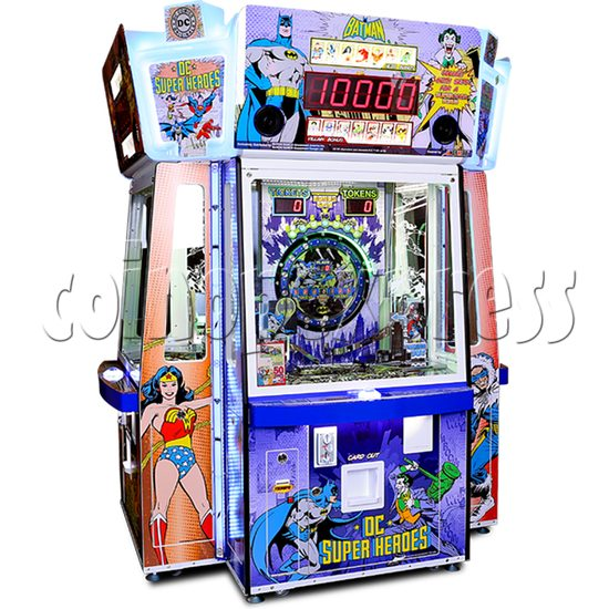 DC Super Heroes 4 Player Arcade Game Machine - angle view
