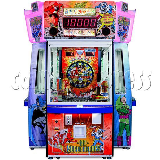 DC Super Heroes 4 Player Arcade Game Machine - flash side