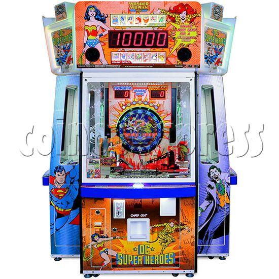 DC Super Heroes 4 Player Arcade Game Machine - wonder woman side