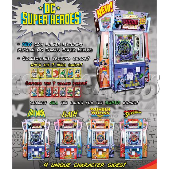 DC Super Heroes 4 Player Arcade Game Machine - catalogue