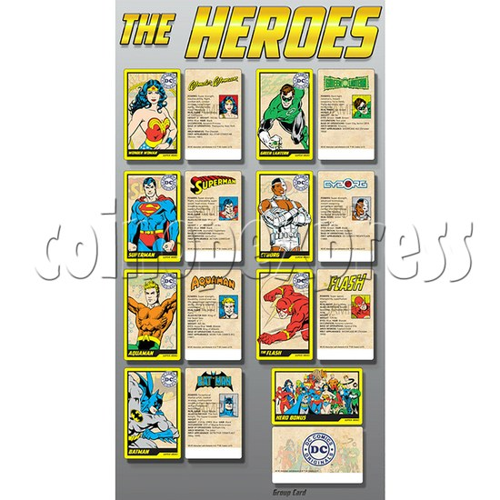 DC Super Heroes 4 Player Arcade Game Machine - the heroes
