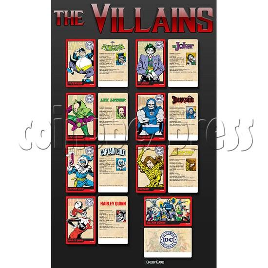 DC Super Heroes 4 Player Arcade Game Machine - the villains