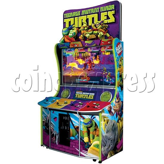 Teenage Mutant Ninja Turtles Arcade Machine 4 Player - angle view