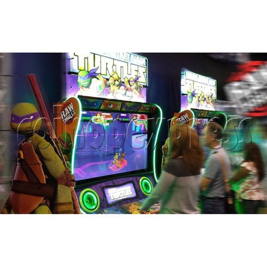 Teenage Mutant Ninja Turtles Arcade Machine 4 Player - play view